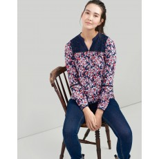 Joules Dolly Woven/ Jersey Mix Top