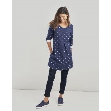 Joules Edith A-Line Tunic Navy Spot