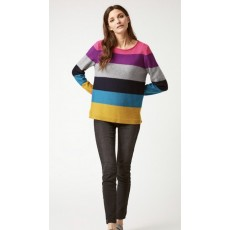 White Stuff Rainbow Stripe Jumper Multi
