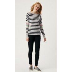 White Stuff Cashmere Willow Stripe Jumper Navy