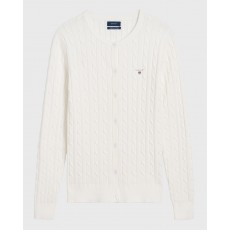 Gant Cable Egg Shell Cardigan