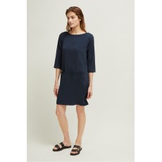 Great Plains Louise Crepe Slash Dark Navy Dress