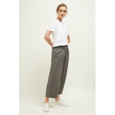 Great Plains Cali Deta Grey Wide Cropped Trousers