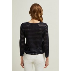 Great Plains Sunday Scallop Dark Navy Knitwear
