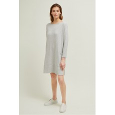 Great Plains Marie Ottoman Grey Melange Dress