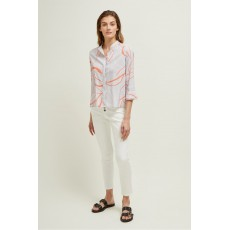 Great Plains  Ava abstract Misty Lilac Combo Blouse