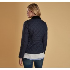 Barbour Deveron Navy Quilt Jacket