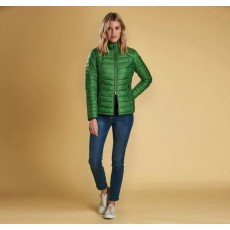 Barbour Daisyhill Green and Navy Quilt Jacket