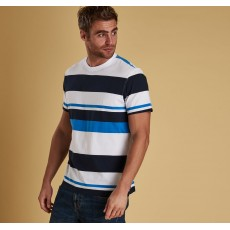 Barbour Longitude White Stripe Tee