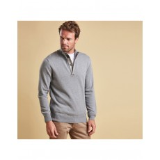 Barbour Cotton Grey Half Zip Jumper