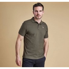 Barbour Dark Olive Green Sports Polo
