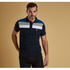 Barbour Shaldon Panel Navy Polo