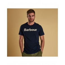 Barbour Logo Navy Tee