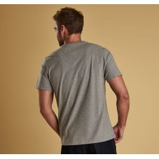 Barbour Logo Grey Tee