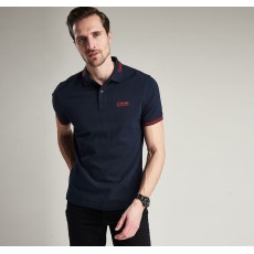 Barbour International Cable Tipped Navy Polo