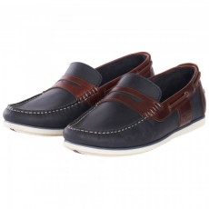 Barbour Keel Navy/Brown Loafer