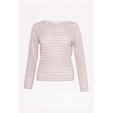 Great Plains Sunday Scallop Blush Melange Knitwear