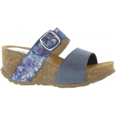 Adesso Lily Blue Twin Strap Wedges