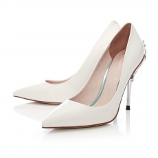 Moda In Pelle Silver Trim Court