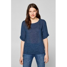 Esprit Light Printed Blouse with elasticated waist Navy