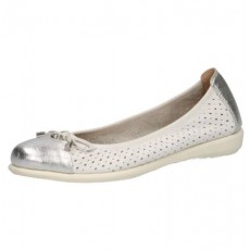 Caprice White Deer Leather Pump