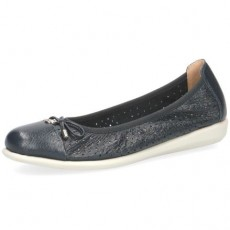 Caprice Blue Deer Leather Pump