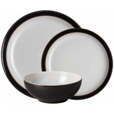 Denby Elements 12 Piece Tableware Set Black