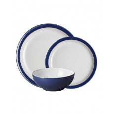 Denby Elements 12 Piece Tableware Set Dark Blue