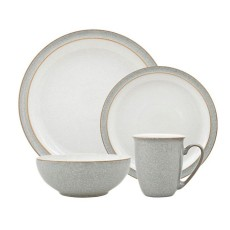 Denby Elements 12 Piece Tableware Set Light Grey