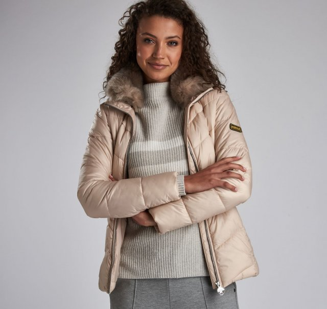 Barbour International  Nurburg Quilt Oyster