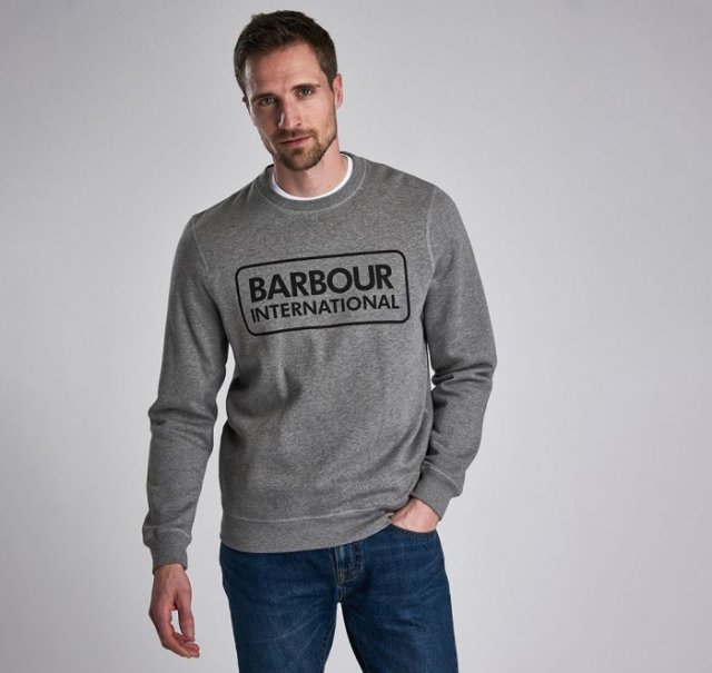 Barbour International  Large Logo Sweat Anthracite Marl