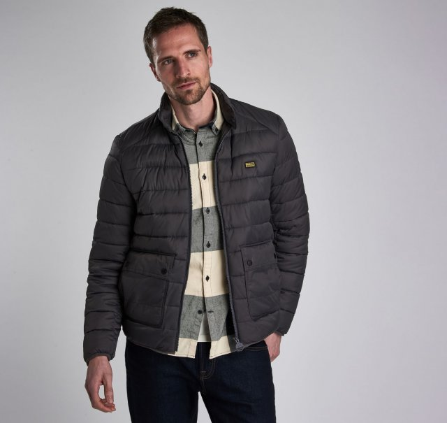 Barbour International  Ludgate Quilt Charcoal