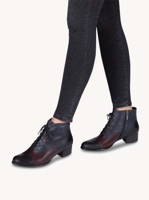 new style de4d6 774b3 Tamaris Lace Up Boot Navy
