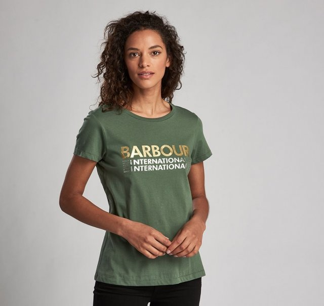 Barbour Internatioanl Trackrace Tee Tussock