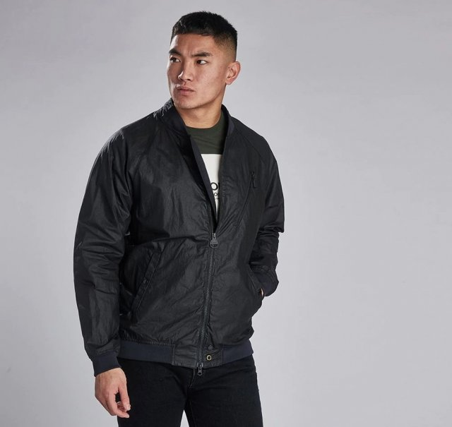 Barbour International Glendale Wax  Black