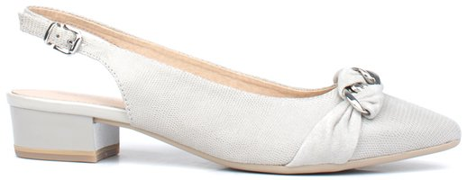 Caprice Light Grey Comb Slingback Shoe