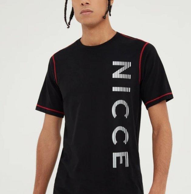 Nicce Mens Race T-Shirt-Black//Reflective