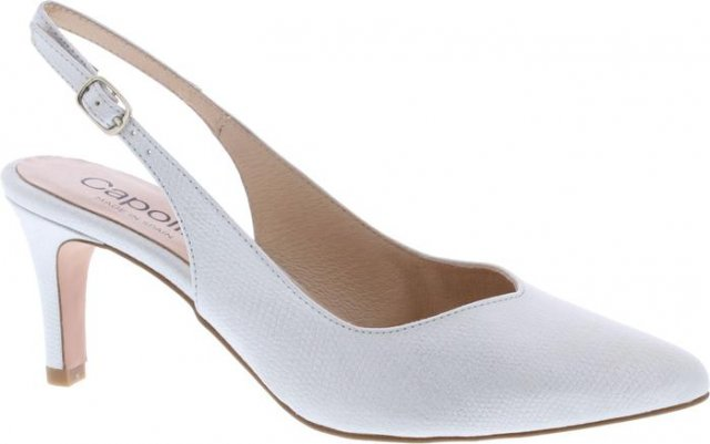 Capollini Catherine Slingback Shoe Light Silver