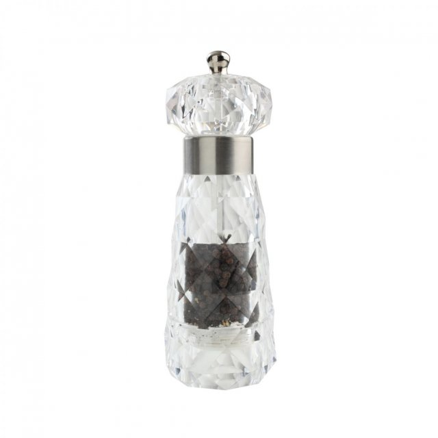 Diamond Pepper Mill Clear Acrylic
