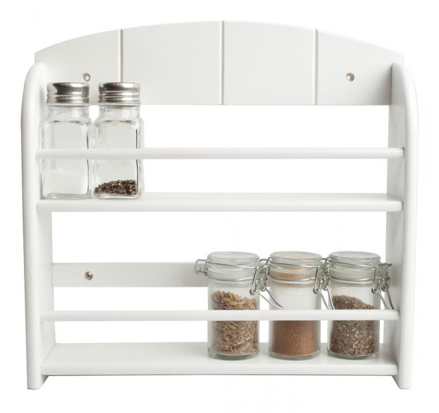 12 Jar Spice Rack White
