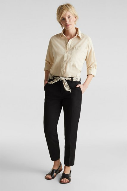 Esprit Chino Trousers Black