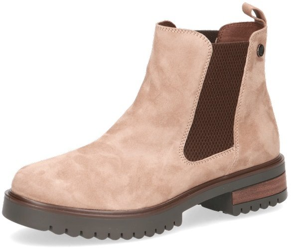 Caprice Taupe Suede Horse Riding Style Slip On Ankle Boot