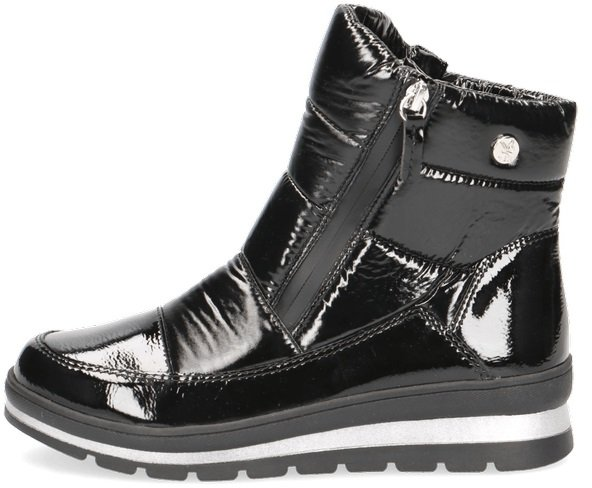 Caprice Black Side Zip Ankle Boot