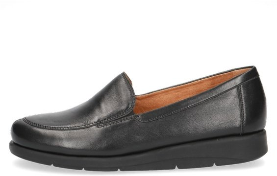 Caprice Black Nappa Leather Slip On Shoe