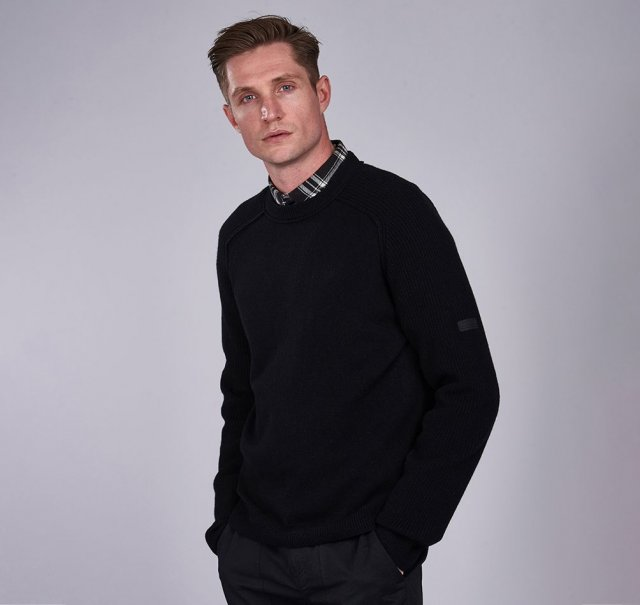 Barbour International Rib Sleeve Crew