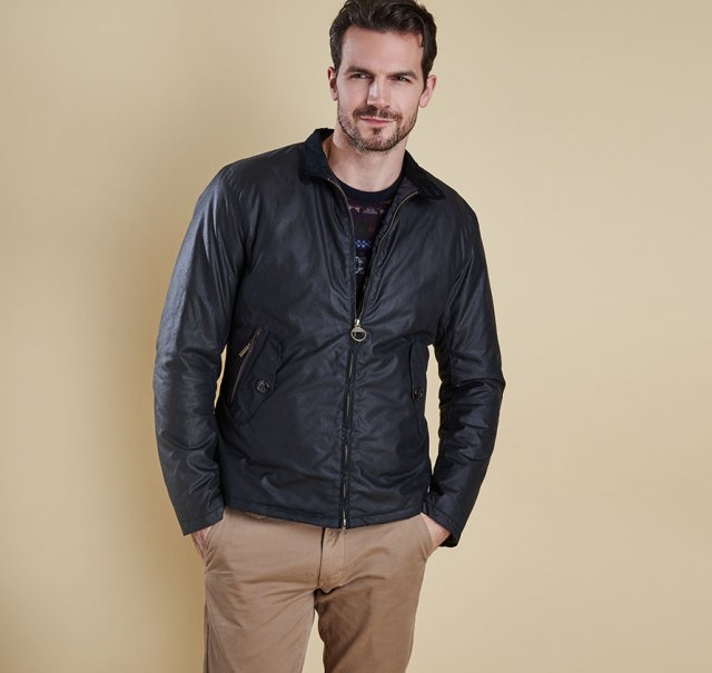 Barbour Elgin Wax Jacket  Navy