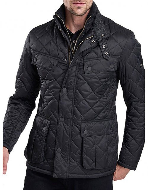 Barbour Windshield Quilt  Jacket Black (TR)