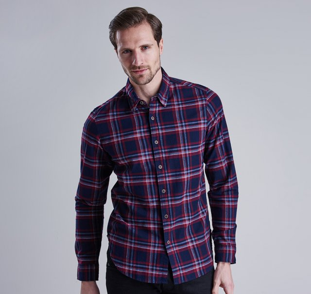 Barbour International  Lane Shirt Ruby
