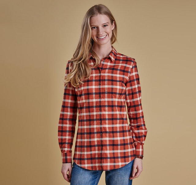Barbour Epler Shirt Burnt Orange