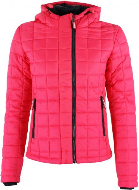 Superdry Hooded Box Quilt Fuji Jacket Flash Pink Coats